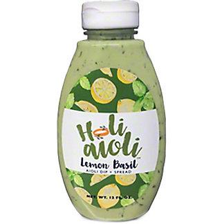 Holi Aioli Lemon Basil Dip & Spread, 9 oz