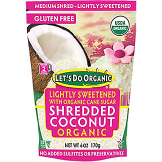 Let's Do Organic Lightly Sweetened Shredded Coconut, 6 oz