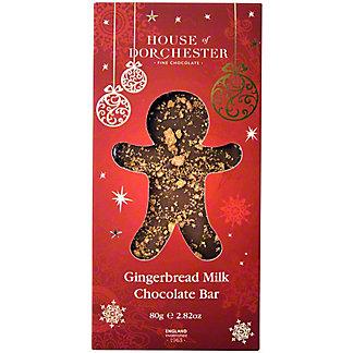 House Of Dorchester Gingerbread Milk Chocolate Bar, 2.8 oz