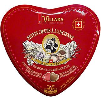 Villars Old Fashioned Chocolate Hearts Box, 6 oz