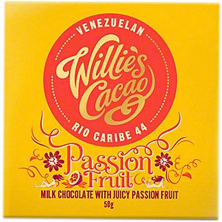 Willie's Cacao Milk Chocolate Passion Fruit Bar, 1.7 oz