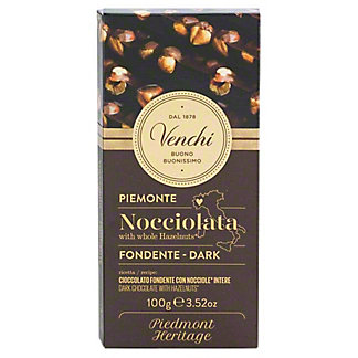 Venchi Dark Chocolate Hazelnut Bar, 3.52 oz