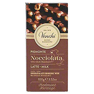 Venchi Milk Chocolate Hazelnut Bar, 3.52 oz