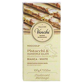 Venchi ChocolightWhite Chocolate Hazelnut Pistachio Bar, 3.52 oz