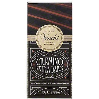Venchi Cremino Dark Chocolate Bar with Gianduja Hazelnuts, 3.88 oz