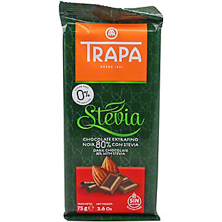 Trapa Stevia 80% Dark Chocolate, 2.6 oz