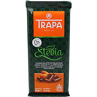 Trapa Stevia Milk Chocolate & Almond Bar, 2.6 oz