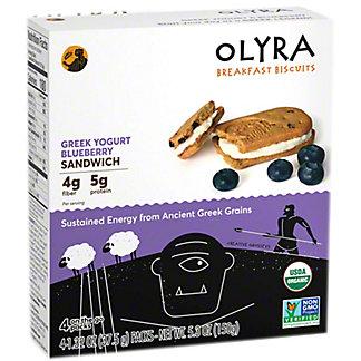 Olyra Greek Yogurt Blueberry Breakfast Biscuit Sandwich, 5.3 oz