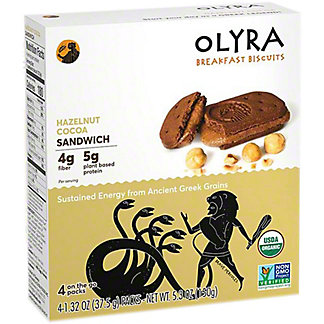 Olyra Hazelnut Cocoa Breakfast Biscuit Sandwich, 5.3 oz