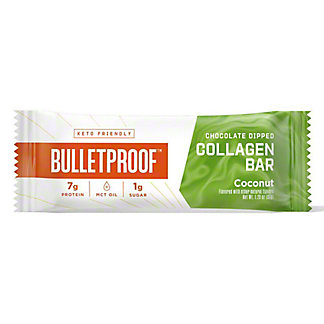 Bulletproof Chocolate Dipped Coconut Collagen Bar , 1.23 oz