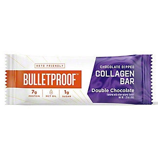 Bulletproof Double Chocolate Dipped Collagen Bar, 1.23OZ