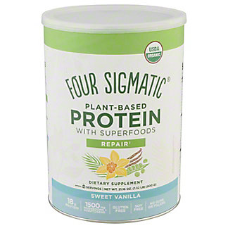 Four Sigmatic Sweet Vanilla Plant Based Protein, 21.16 oz