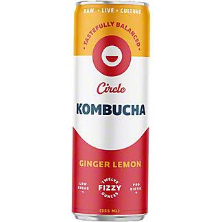 Circle Kombucha Ginger Lemon Kombucha, 12 fl oz