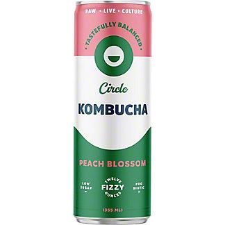 Circle Kombucha Peach Blossom Kombucha, 12 fl oz