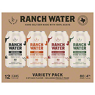 Lone River Ranch Water Hard Seltzer Variety Pack 12 oz Cans, 12 pk
