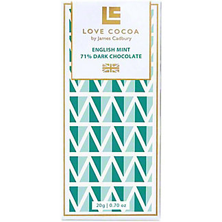 Love Cocoa English Mint Dark Chocolate Minibar, .7 oz