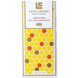 Love Cocoa Honeycomb Milk Chocolate Minibar, .7 oz