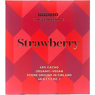 Goodio Strawberry Milk Chocolate Bar, 1.7 oz