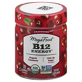 Megafood B12 Energy Cranberry Gummy , 70 ct