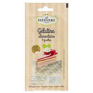 La Pateliere Gelatin Leaves, 6 ct