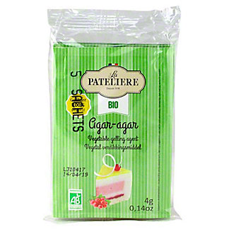La Pateliere All Natural Agar Agar Vegetable Gelatin, 5 ct