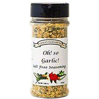 Lesley Elizabeth Oh So Garlic Seasoning, 3.6 oz