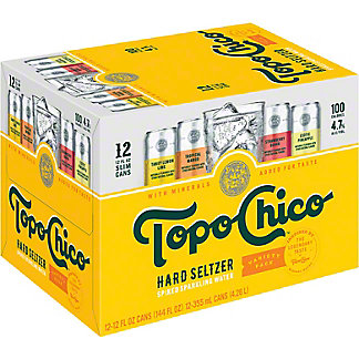 Topo Chico Hard Seltzer Variety Pack 12 oz Cans, 12 pk