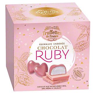 Truffettes De France Chocolate Ruby Heart Marshmallows, 7 oz