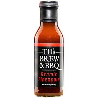 TD's Brew & BBQ Atomic Pineapple BBQ Sauce, 14 oz