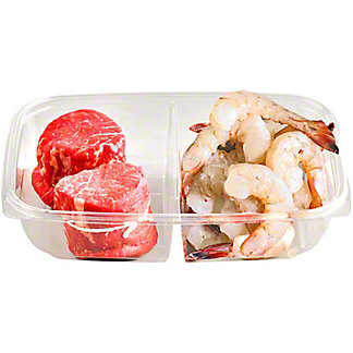 Central Market Tenderloin & Peeled Shrimp Surf & Turf Dinner For Two, ea