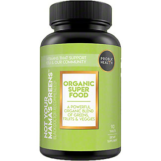 Problk Health Not Your Mamas Greens Organic Vitamin Tablets, 90 ct