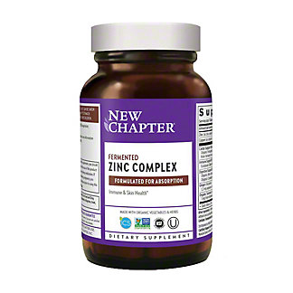 New Chapter Fermented Zinc Complex Tablets, 60 ct