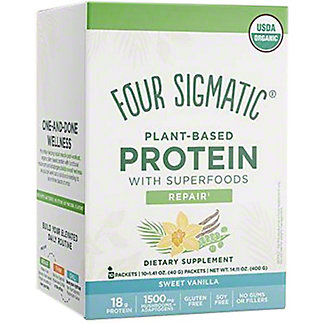 Four Sigmatic Sweet Vanilla Plant Based Protein Packets, 14.11 oz