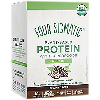 Four Sigmatic Creamy Cacao Plant Based Protein Packets, 14.11 oz