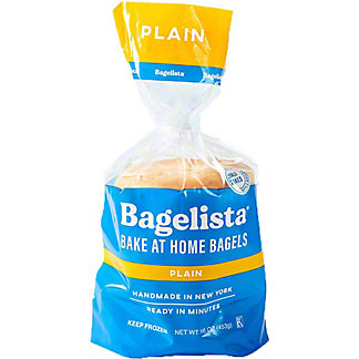 Bagelista Plain Bagel, 16 oz