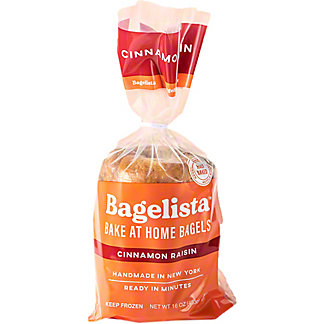 Bagelista Cinnamon Raisin Bake At Home Bagels, 16 oz