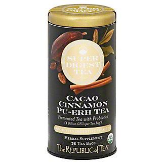 The Republic Of Tea Cacao Cinnamon Pu-erh Tea, 36 ct