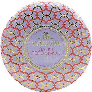 Voluspa Saijo Persimmon 3 Wick Tin, ea