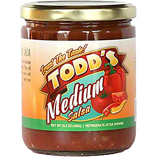 Todd's Medium Salsa, 15 oz