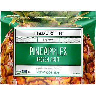 Made With Organic Frozen Pineapples, 10 oz