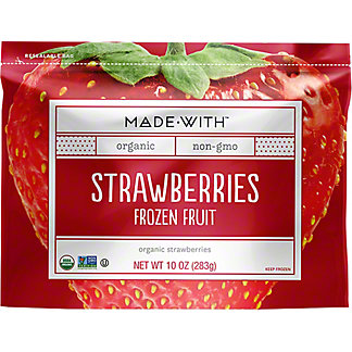 Made With Organic Frozen Strawberries, 10 oz