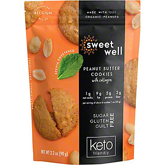 Sweetwell Peanut Butter Cookies, 3.2 oz