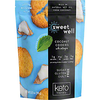 Sweetwell Coconut Cookies, 3.2 oz