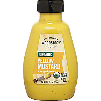 Woodstock Organic Yellow Mustard, 8 oz