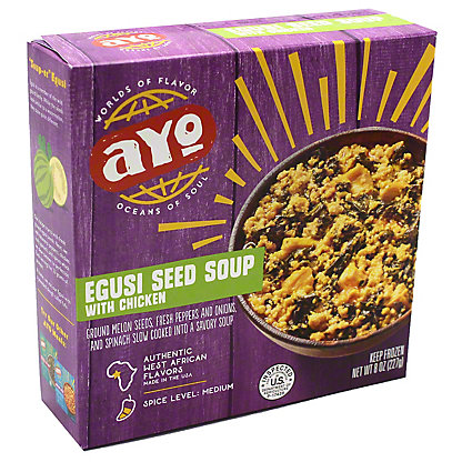 Ayo Egusi Seed Soup With Chicken, 8 oz