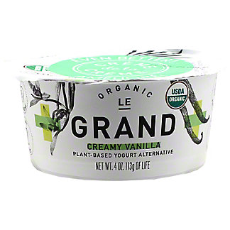 Le Grand Creamy Vanilla Plant-based Yogurt Alternative, 4 oz