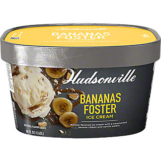 Hudsonville Bananas Foster Ice Cream, 48 oz