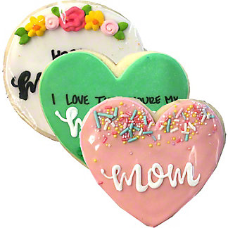 Hayley Cakes & Cookies Mother's Day Cookie (Design & Color Selection May Vary), 3 oz