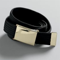 Gold Buckle Webb Belt046100WHILE SUPPLIES LAST