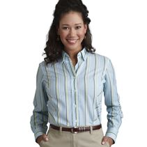 Poplin Stripe Blouse 060840  WHILE SUPPLIES LAST